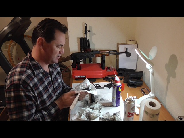Чистка и смазка травматического пистолета МР-80-13Т