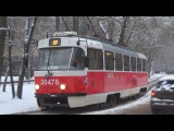 Трамвай Tatra-t3 (МТТА) №30478 в бело-красной окраске!