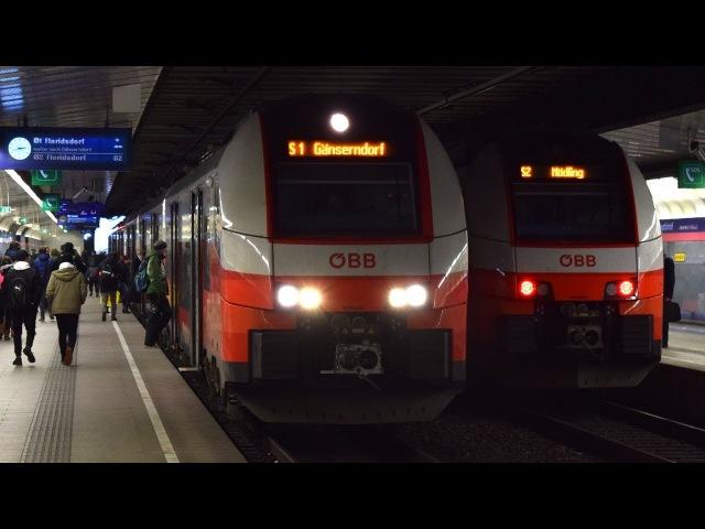 Trains - Wien Hbf (Bahnsteige 1-2) (A) - 13.2.2018