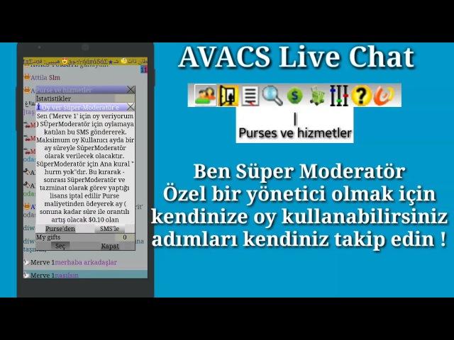 AVACS Live Chat - Canlı Sohbet