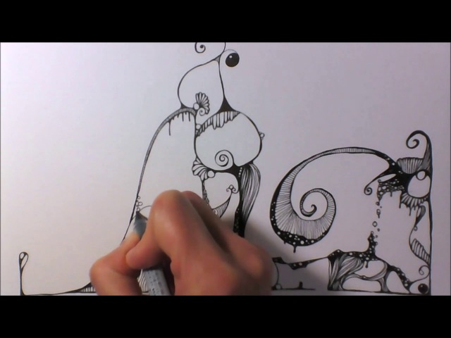 Speed Drawing - Zentangle Inspired Art - Kritzelei 29 (lang)