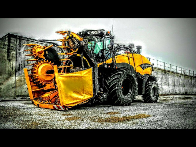 New Holland FR 850 Yellow Bull SILAGE IN ITALY   TEAM GIALLO VERDE