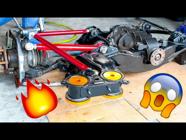 V8 Swapped Supra Drift Car Solid Bushings BC Racing Coilovers
