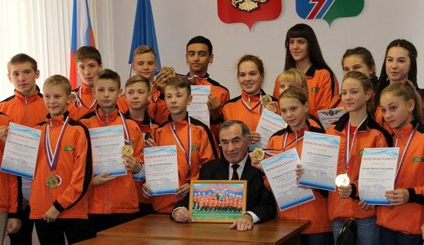 Мэр Усть-Илимска встретился с победителями «Президентских спортивных игр»