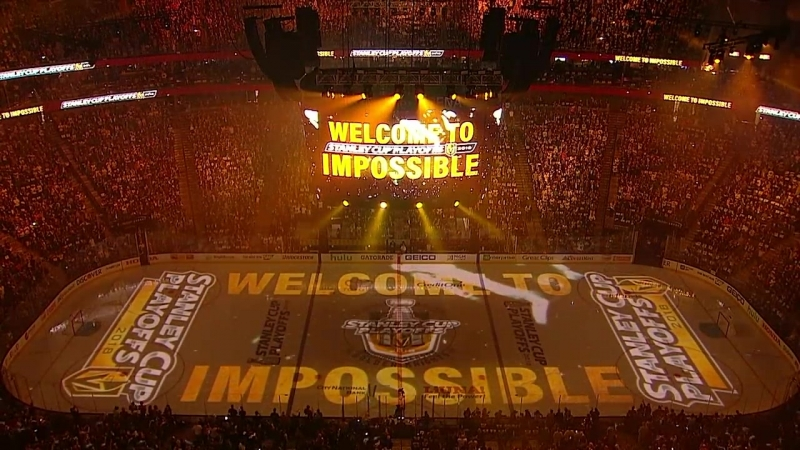 Golden Knights epic WCF opening ceremony