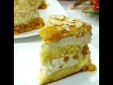 Торт с персиками и миндалём / наша группа в ВКонтакте: ТОРТ-РЕЦЕПТ-VK
