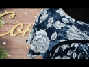 Платье Модель П1032.1 синее с розами (48-62) 1030р [СОНЛАЙН]
