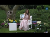 White House Easter Egg Roll Reading Nook with First Lady Melania Trump