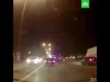 Массовое ДТП из-за машины в мигалкой