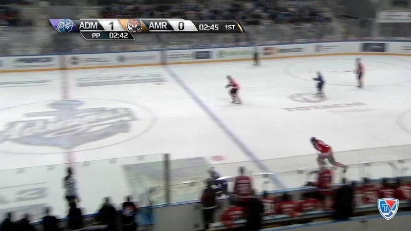 Моменты из матчей КХЛ сезона 14/15 • Гол. 2:0. Горшков Александр (Адмирал) увеличивает преимущество в счете в большинстве 18.02