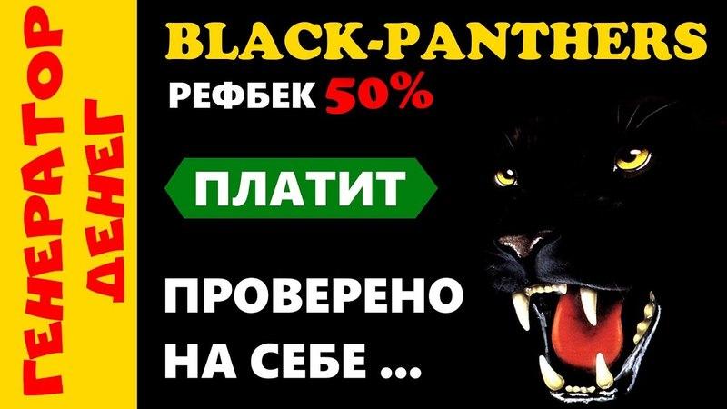 Black panthers Проверка на выплату. Бонусник с окупаемостью за неделю!