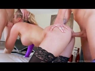 Samantha saint dp and facials (big dick, big cock, big tits, fake tits, big boobs, dp, pornstar, cumshot, samantha saint, anal,