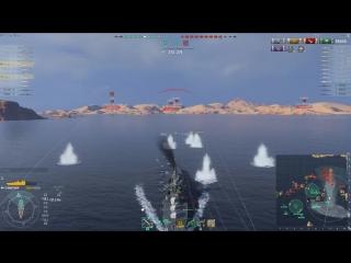 300,000+ DAMAGE 3,000+ BASE XP 800+ SHELL HITS - MINOTAUR - World of Warships
