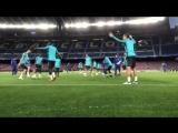 Тренировка Челси в Барселоне