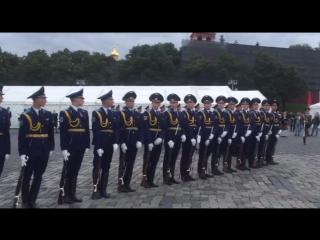 Рота почётного караула Вооружённых Сил Республики Беларусь - репетиция -