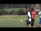 March 24: Video of Justin playing soccer in Playa Vista, California.