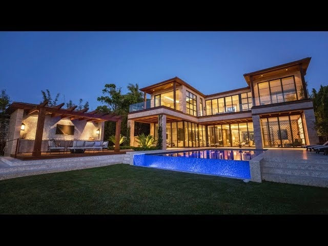 Contemporary Bayfront Mansion on North Bay Road Miami Beach -- Lifestyle Production Group