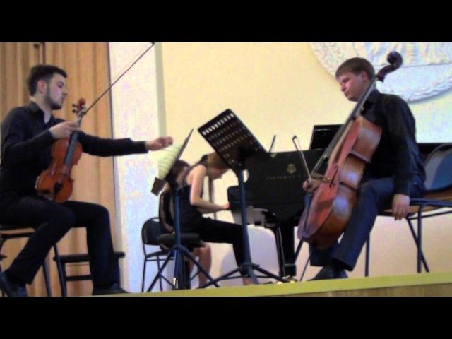 Георгий Свиридов - трио для фортепиано,виолончели и скрипки.