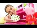 СВИНКА ПЕППА 🐷! Видео для детей с игрушками ПЕППА 🐽 играет в игрушки и готови ...