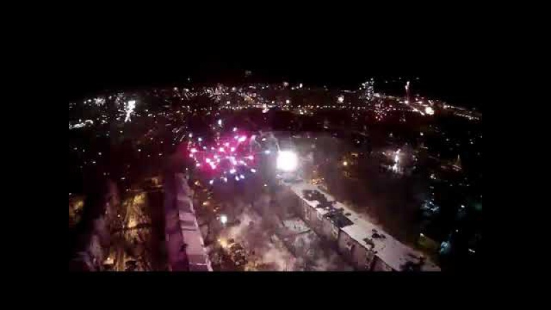 Салют в Алматы новый год 2018 . Happy new year The civilian fireworks in Kazakhstan