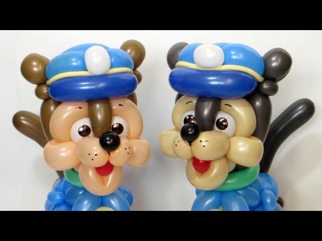 Голова Гончика из шаров / Paw Patrol head from balloons (Subtitles)