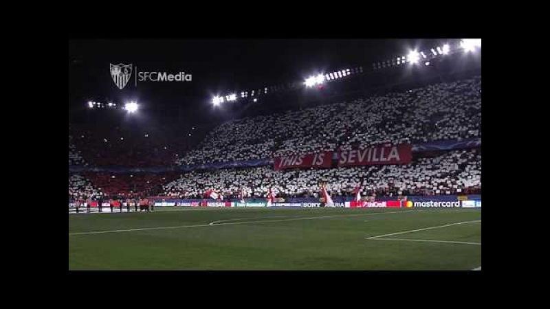 Himno comienzo partido Champions. 21/02/18. Sevilla FC