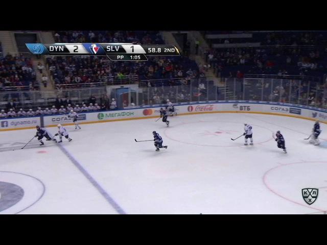 Моменты из матчей КХЛ сезона 16/17 • Гол. 3:1. Никита Комаров (Динамо) отличился в меньшинстве 27.08