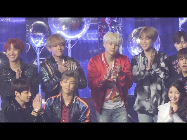 171202 방탄소년단 (BTS) 아이유(IU) 올해의앨범 대상 리액션 정국이ㅋㅋ [전체] 직캠 Fancam (201