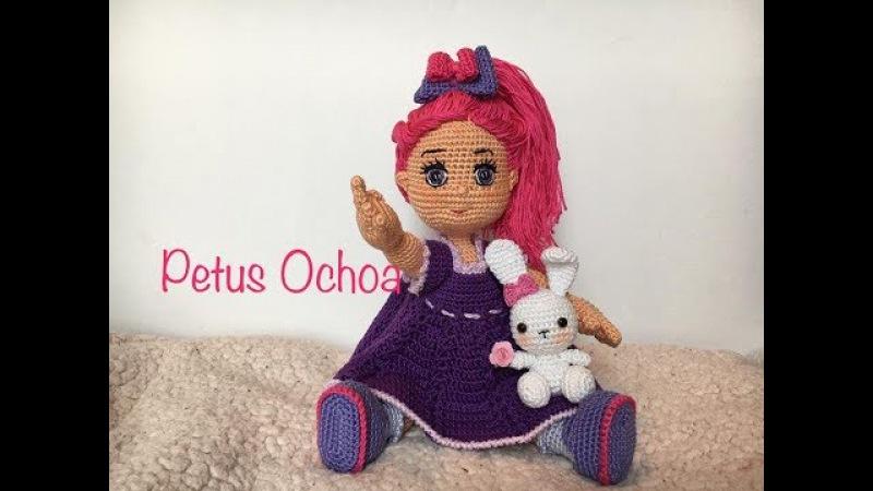 Como tejer vestido muñeca Greta amigurumis By Petus QUINTA PARTE 5/7