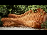 Parametric wooden furniture for the garden