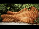 Parametric wooden furniture for the garden