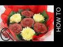 ( lakomkavk) Букет из капкейков. Hidden CHOCOLATES! Valentine Buttercream Flower Bouquet by Cupcake