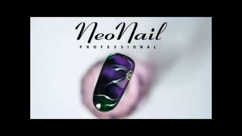 Мастер-класс Крокус: дизайн по-мокрому гель-лаками Акварель от NeoNail Professional