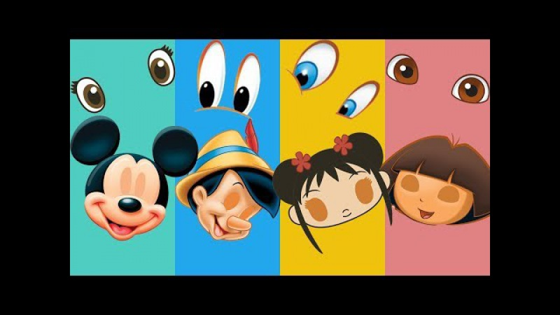 Wrong Eyes Pinocchio Dora Ni Hao Kai-Lan Mickey Mouse Family Finger Song Nursery Rhymes For Kids