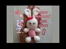 Amigurumi Tavşan Anahtarlık 1 Baş ve Gövde Rabbit Key Chain 1 Head and Body