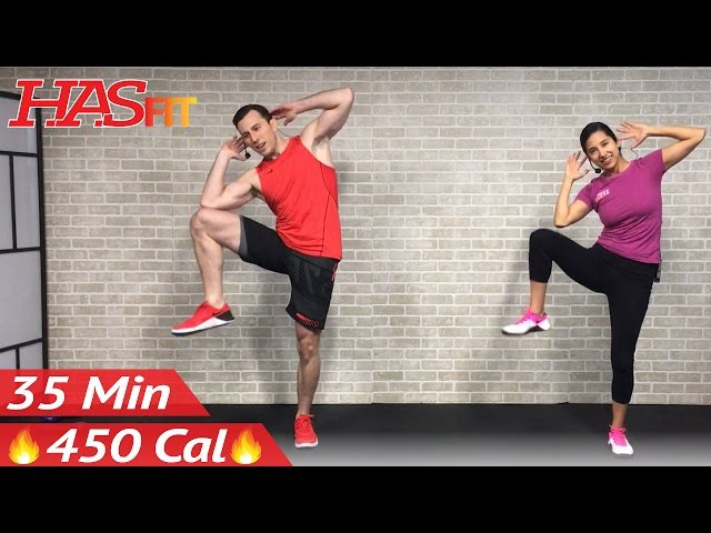 35 Min Standing Abs Low Impact Cardio Workout for Beginners - Home Ab Beginner Workout Routine