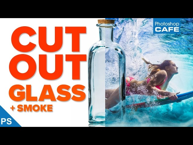 Extract GLASS SMOKE: Transparent selections in PHOTOSHOP