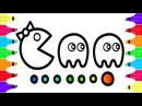 How to Draw Pac-Man Ghost | Game Drawing Coloring Book For Kids