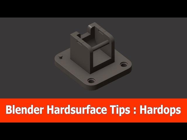 Blender Hard Surface Tips Hardops