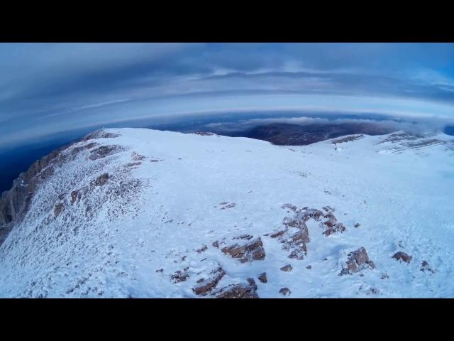 Южная панорама с вершины Эклизи-Бурун (1572м) 25 февраля 2018
