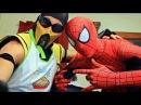 Spiderman Scorpion make SMORES! (Cooking With Scorpion!) Marvel Spider--man Movie