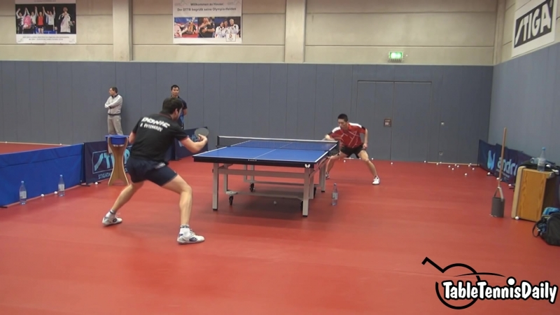 Dimitrij Ovtcharov Irregular tabe tennis training 2016!
