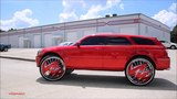 WhipAddict Kandy Red Dodge Magnum SRT8 on DUB Zig Zag 32s by KandyWorld and UGRK
