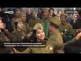 Военные музыканты Минобороны исполнили песни военных лет в Ташкентском метрополитене