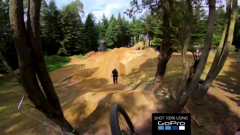 Crankworx Rotorua MTB Slopestyle Preview POV with Rogatkin and McCaul.