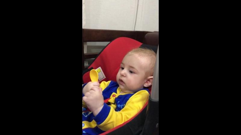 Первый прикорм (кабачок) Константину Сергеевичу 6 месяцев ❤️
