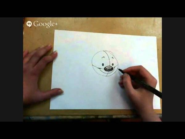 Рисуем мультяшек для детей художник Люба Дикер