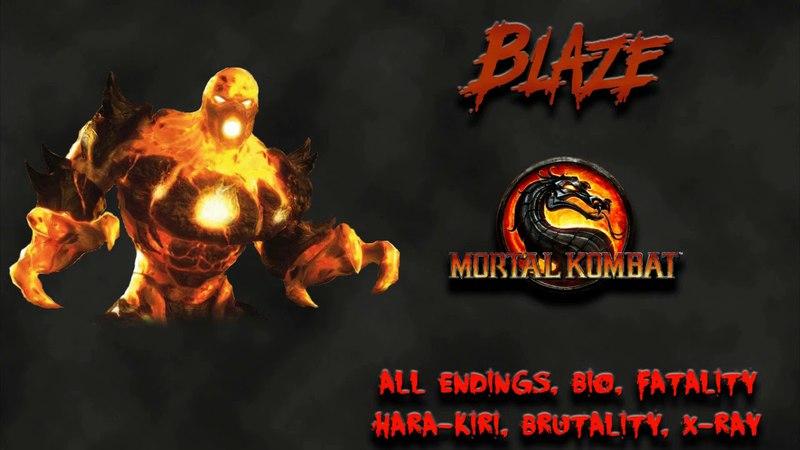 Mortal Kombat - All Fatality, Bio, Ending - Blaze