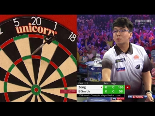 Zong Xiaochen vs Bernie Smith (PDC World Darts Championship 2018 / Preliminary Round)