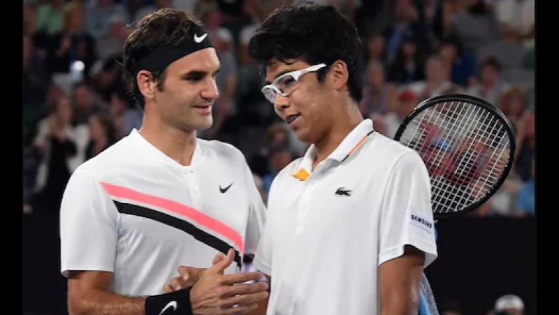 Federer - Chung Hyeon AO 2018 SF Федерер - Чхун Хён (Чон Хён)